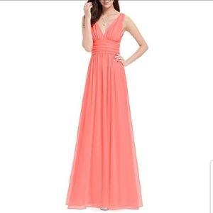 Dresses & Skirts - Coral V Dress